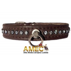 DOG COLLAR BROWN LEATHER