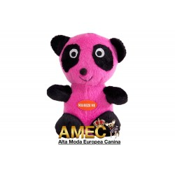 PANDA BEAR PLUSH DOG FUCSIA
