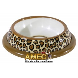LEOPARD DOG FEEDER BOWL