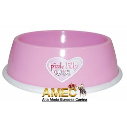PINK LILLY DOG BOWL