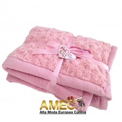 DOG BLANKET PINK LILLY
