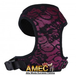 DOG HARNESS PURPLE LACE