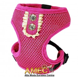 MESH HARNESS DOG FUCHSIA