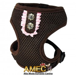 CHOCOLATE DOG HARNESS