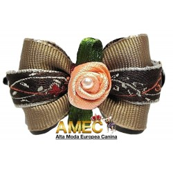 BROWN PATTERN BOW