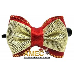 BOW RED AND GOLD PARTY
