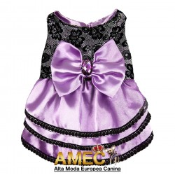 PRINCESS DOG PURPLE DRESS