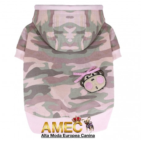 HOODED JACKET ARMY PINK