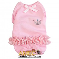 PINK PAJAMAS WITH RUFFLES