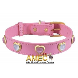 HEARTS PEARLS DOG COLLAR