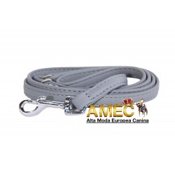 LEATHER DOG LEASH GRAY
